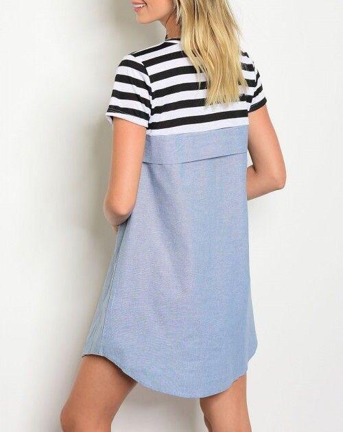 Shoptiques Striped Top Twofer Dress