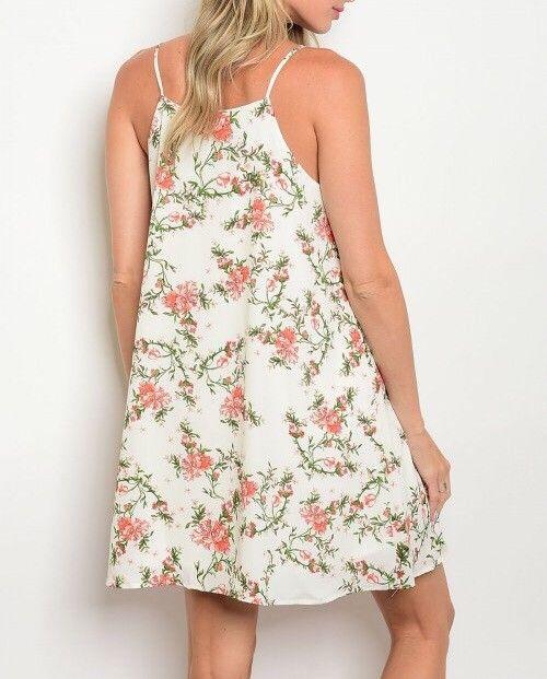 Shoptiques Floral Vines Cami Dress
