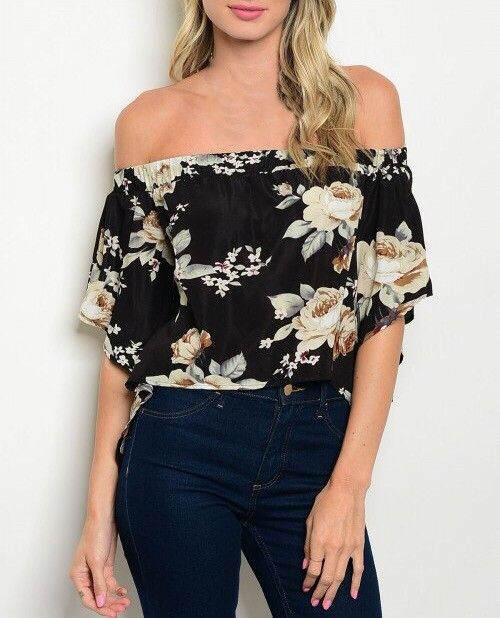 Shoptiques Open Back Off Shoulder Blouse