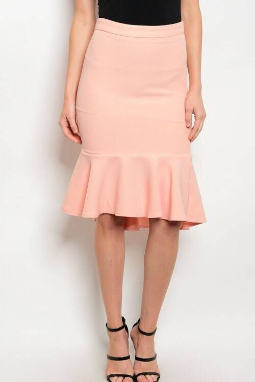 Shoptiques Ruffle Bottom Pencil Skirt