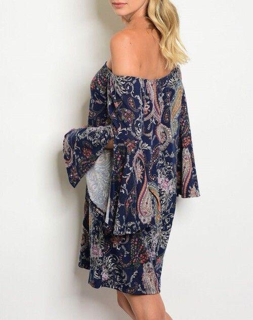 Shoptiques Paisley Dreams Off Shoulder Dress