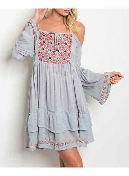 Shoptiques Boho Embroidered Dress