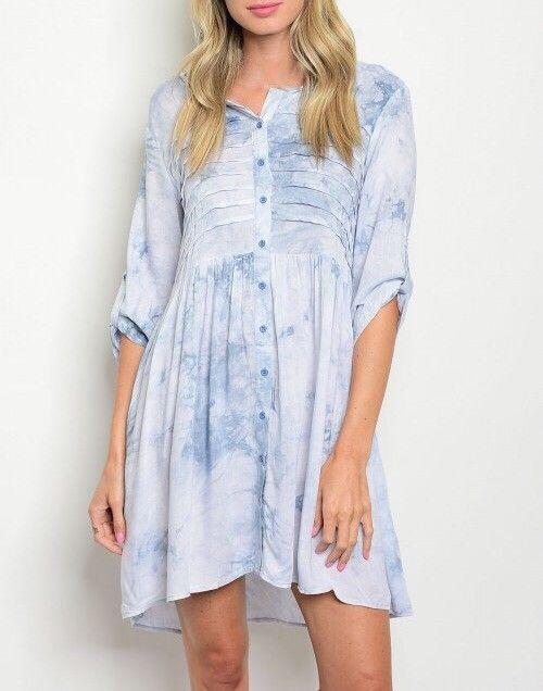 Shoptiques Tie Dye Button Up Dress