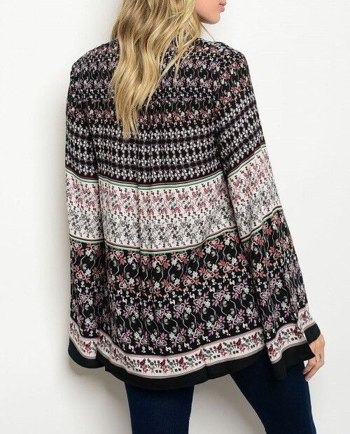 Shoptiques Mixed Print Boho Top