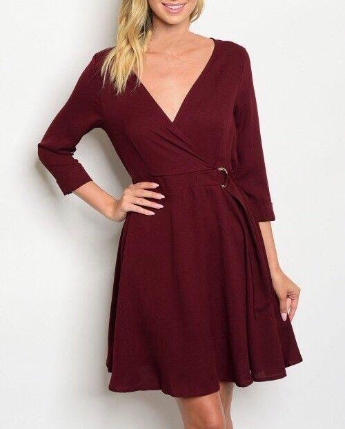 Shoptiques Belted Semi Wrap Dress