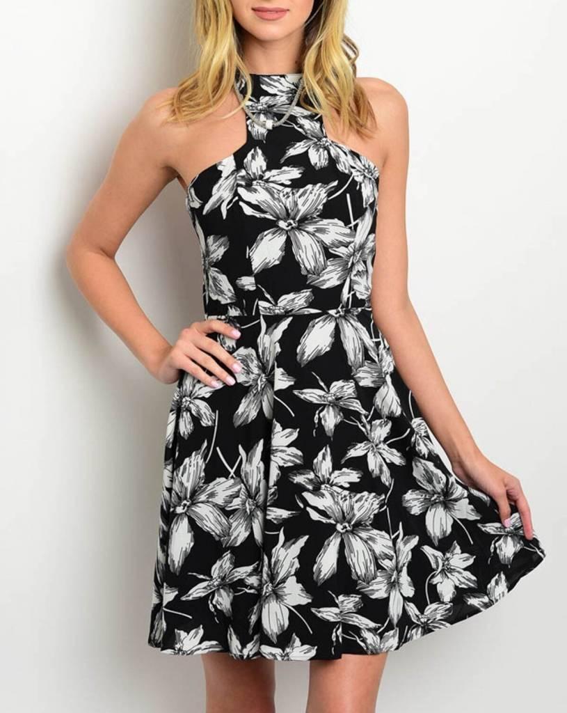 Shoptiques Monochrome Floral Dress