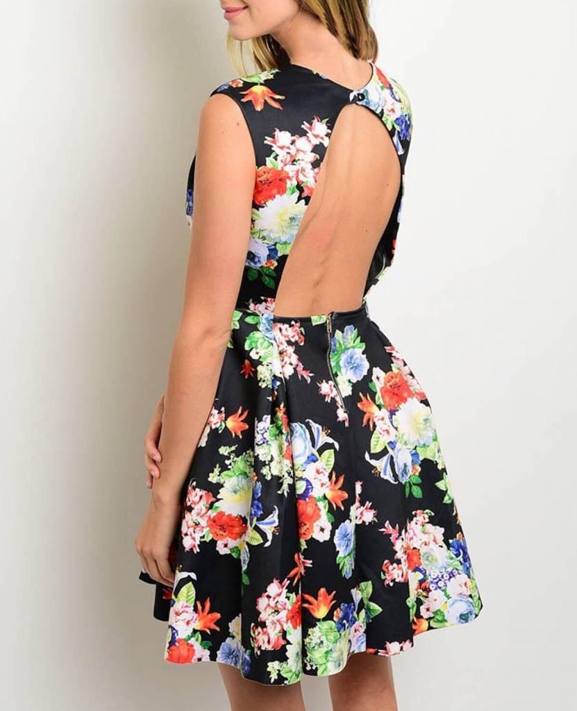 Shoptiques Electro-Floral Dress