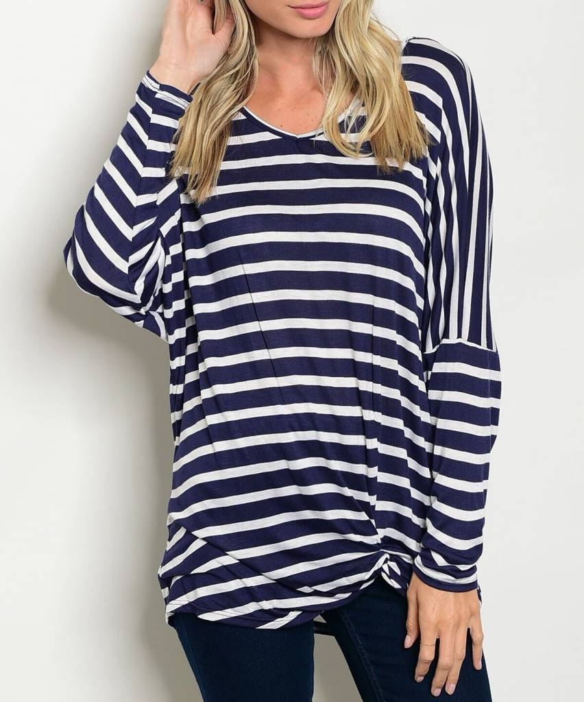 Shoptiques Striped Dolman Top