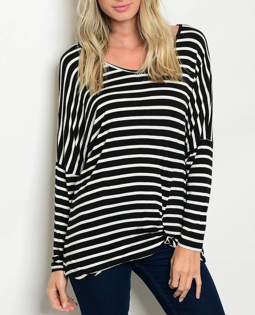 Shoptiques Striped Dolman Top