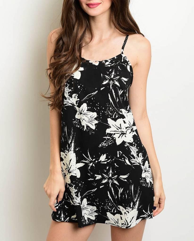 Shoptiques Low Back Floral Cami Dress