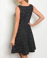 Shoptiques Box Print A-Line Dress