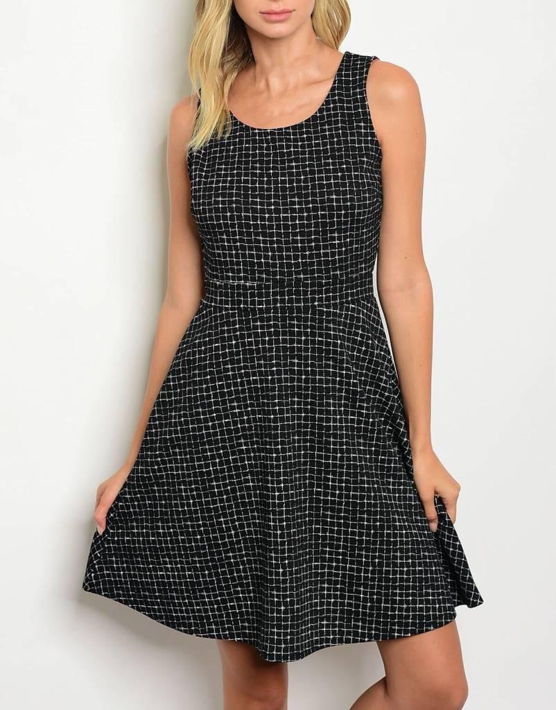 Shoptiques Box Print A-Line Dress