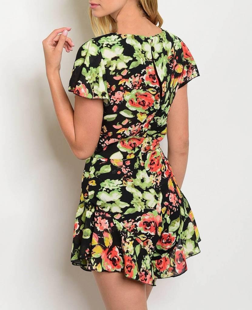 Shoptiques Ruffle Bottom Floral Romper