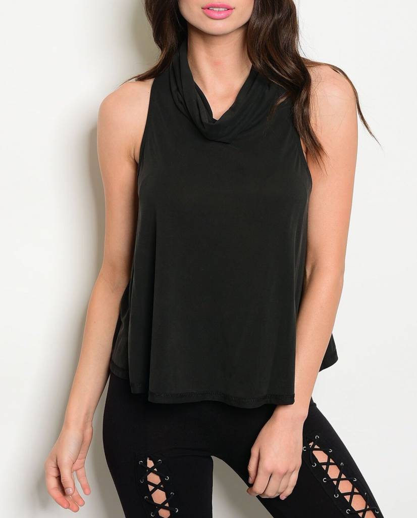 Shoptiques Open Back Cowl Neck Top