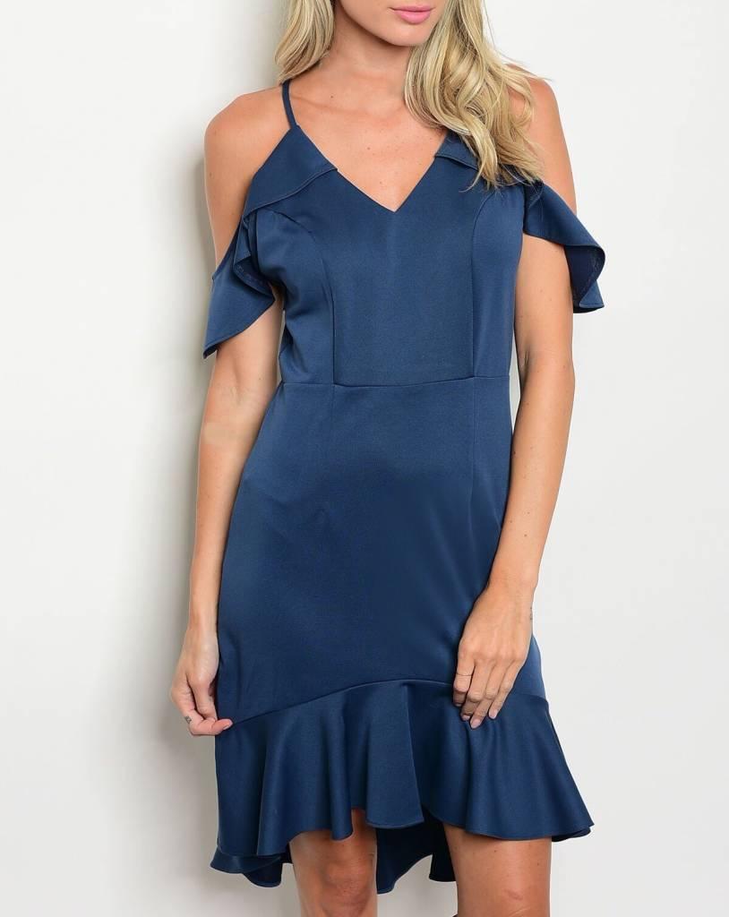 Shoptiques Satin Flutter Dress