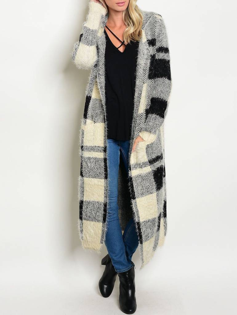 Shoptiques Fluffy Sweater Cardigan