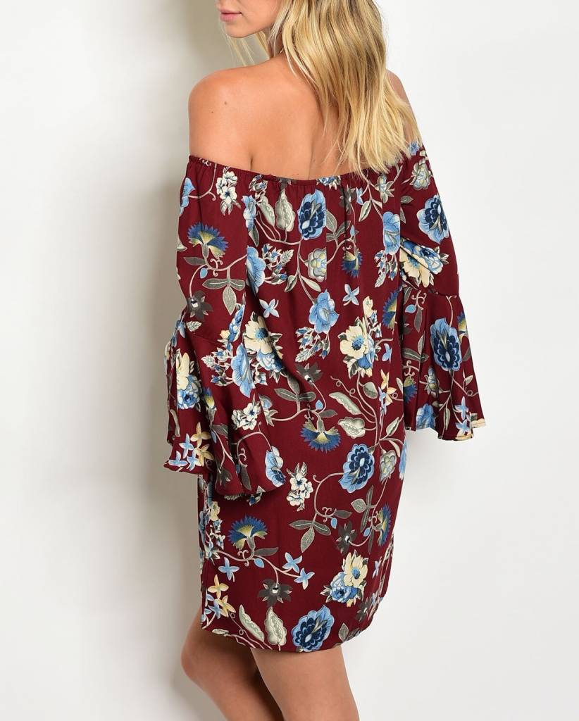 Shoptiques Floral Off Shoulder Dress