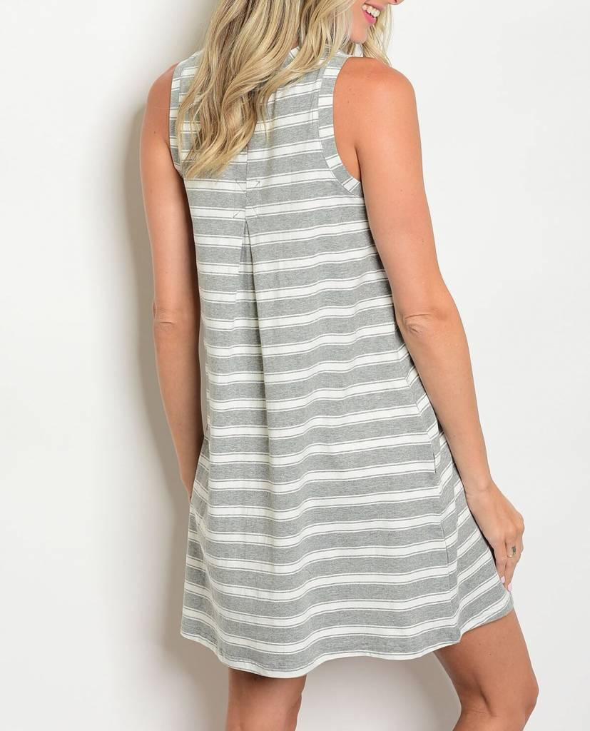 Shoptiques Striped Sleeveless Dress