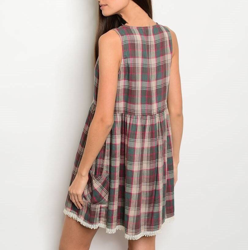 Shoptiques Sleeveless Plaid Dress