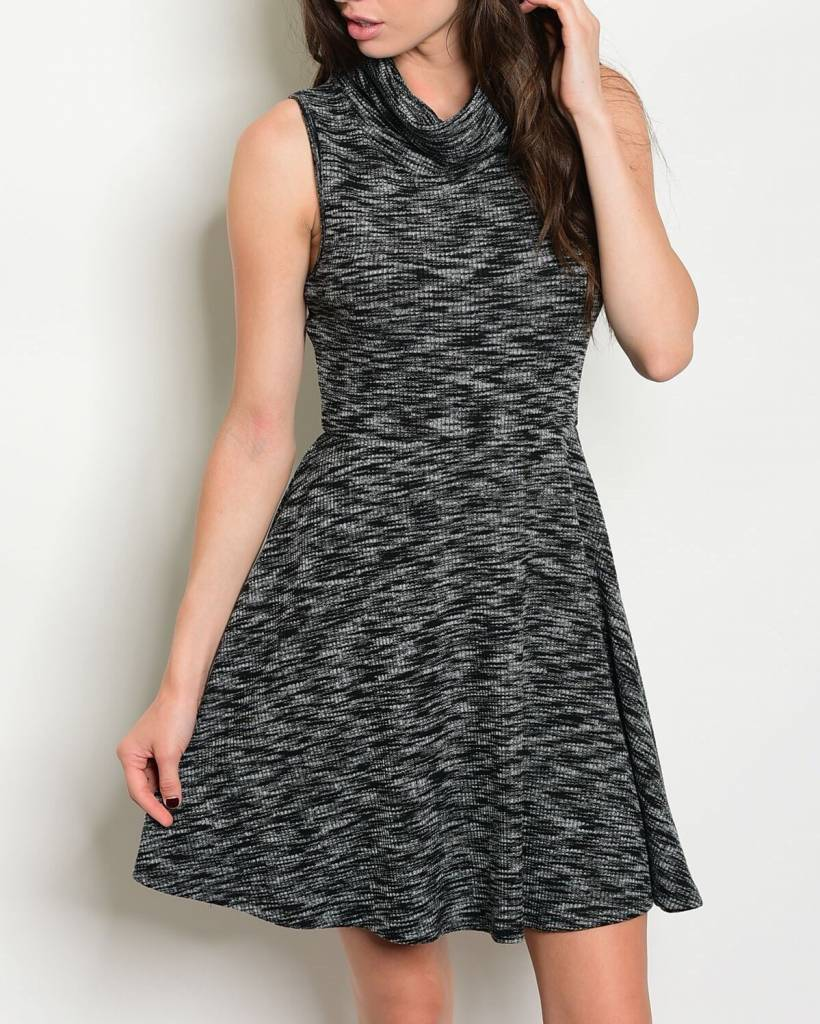 Shoptiques Cowl Neck Skater Dress