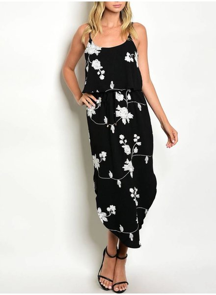 Shoptiques Embroidered Flower Maxi