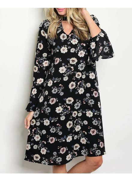 Shoptiques Chokers and Flowers Dress