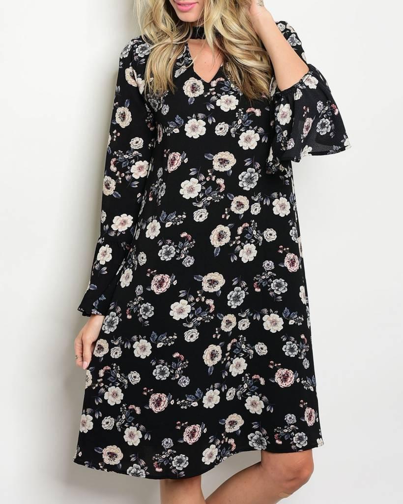 Shoptiques Chokers and Flowers Dress
