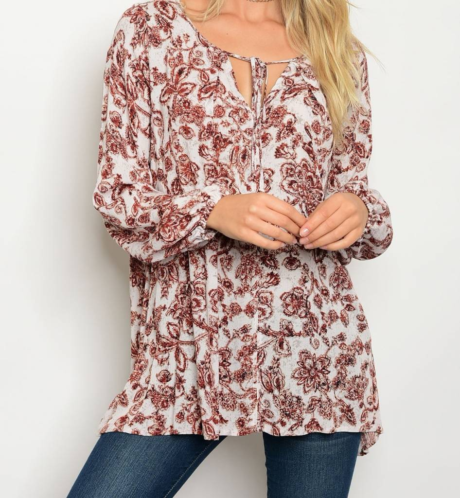 Shoptiques Kiara Paisley Blouse