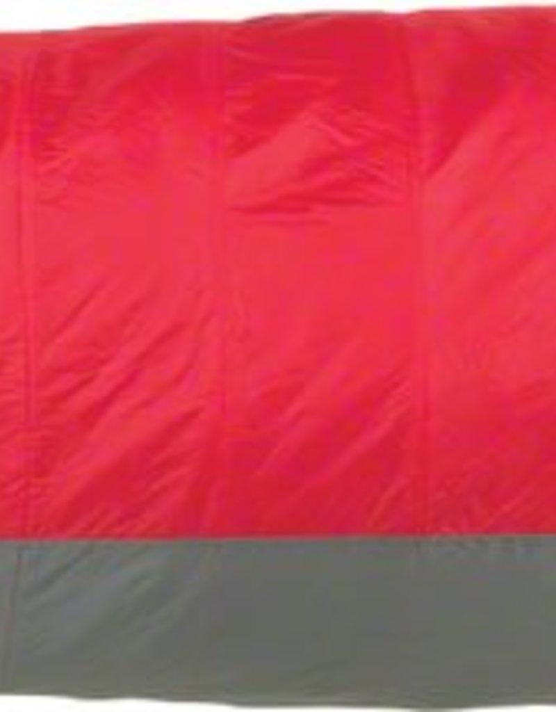 Big Agnes, Inc. Encampment 15F Sleeping Bag: Synthetic, Red/Gray, Long