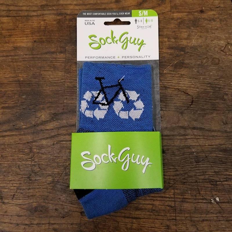 SockGuy Classic Recycle Bike Sock