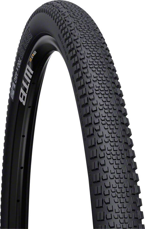 WTB WTB Riddler TCS Light Fast Rolling Tire: 700 x 45, Folding Bead, Black