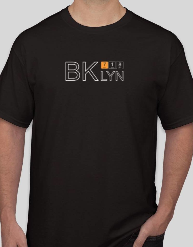 718 Stuff Bklyn Black T-Shirt