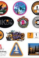 2018 718 Cyclery Sticker Sheet