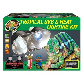 Zoo Med LF-30 ZOO UVB & HEAT DUAL DOME KIT TROPICAL 5.0/60W