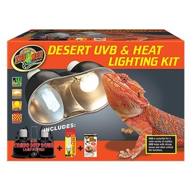 Zoo Med LF-31 ZOO UVB & HEAT DUAL DOME KIT DESERT 10.0/75W
