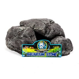 Jungle Bob Enterprises Inc. 8215 Jungle Bob Aquarium Stone Large Grey