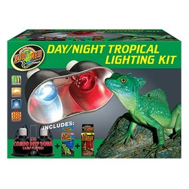 Zoo Med LF-33 ZOO DAY/NIGHT DUAL DOME KIT TROPICAL 60W/60W