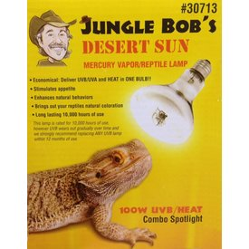 Jungle Bob Enterprises Inc. 30713 Jungle Bob Desert Sun 100W  UVB/UVA/Heat Lamp