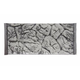 Jungle Bob Enterprises Inc. 8284 Jungle Bob Background 24X12 Inch For Aquarium  15 Gallon Thin GREY