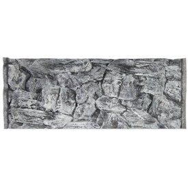 Jungle Bob Enterprises Inc. 7876 Jungle Bob Background 36x17 Inch For Aquarium 40 Gallon Rock Grey