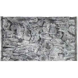 Jungle Bob Enterprises Inc. 7881 Jungle Bob Background 48x25 Inch For Aquarium 90/120 Gallon Rock Grey