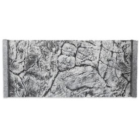 Jungle Bob Enterprises Inc. 8278 Jungle Bob Background 12x8 Inch For Aquarium 2.5  Gallon Thin GREY