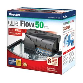 Aqueon Aqueon QuietFlow 50 LED Pro Aquarium Power Filter 50gal