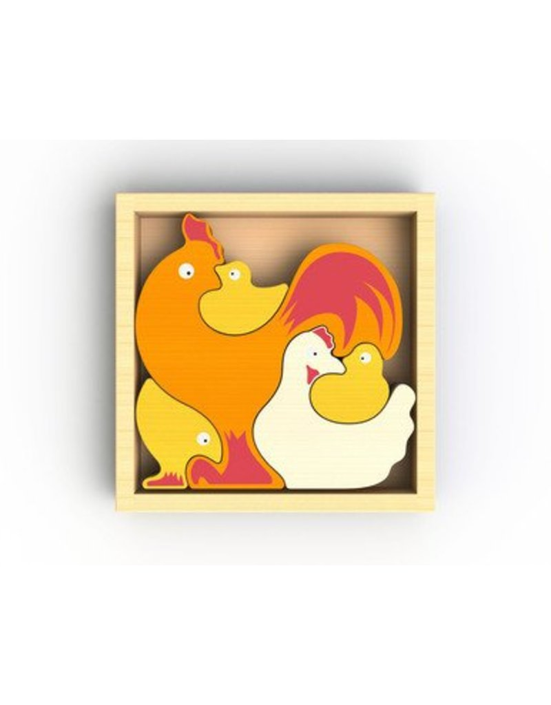 Begin Again Chicken Family Puzzle