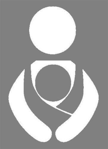 Nappy Shoppe Sticker - Babywearing Symbol