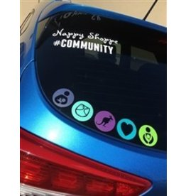 Nappy Shoppe Sticker - #Community