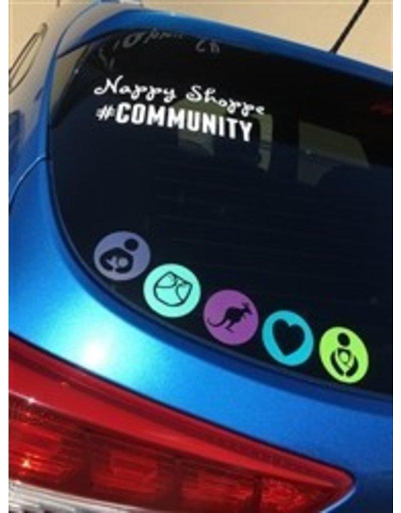 Nappy Shoppe Sticker - #Community