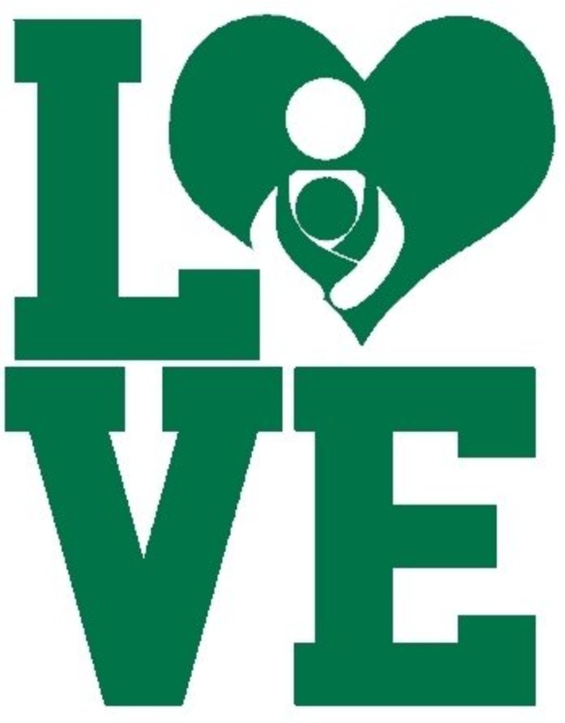 Nappy Shoppe Sticker - LOVE Babywearing