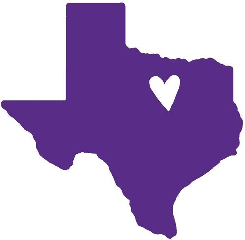 Nappy Shoppe Sticker - Mini Texas Heart