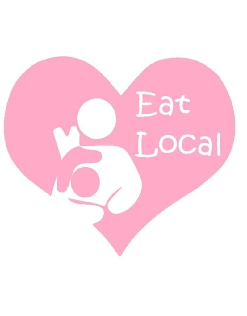 Nappy Shoppe Sticker - Toddler Breastfeed Eat Local Heart